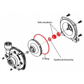 Kit Selo Mecânico Cerâmico para Bomba Hypro 9303 (3430-0332)