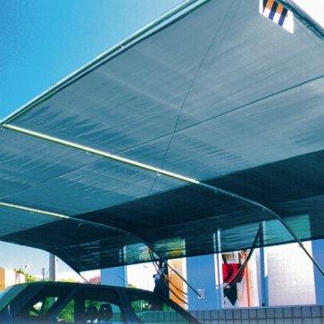 Tela para Sombreamento Ecosombra Azul/Preto para Garagens e Jardins - Rolo de 4,0 x 50m (30201002) - Canal Agrícola