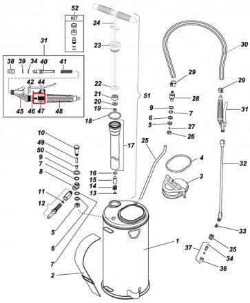 Filtro da Válvula Super 3 para Pulverizador Inox Guarany - Kit com 10 peças - Canal Agrícola