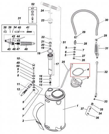O-Ring da Tampa do Pulverizador Inox Guarany - Kit com  2 peças - Canal Agrícola