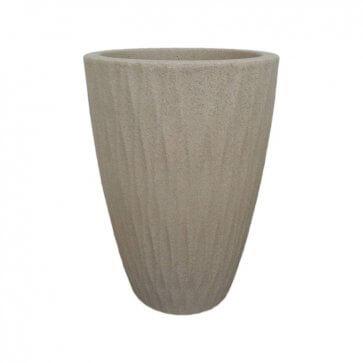 Vaso Decorativo Infnity Cônico Areia 42x29 cm - 21L - Nutriplan - Canal Agricola