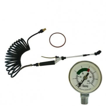 Kit com Manômetro para Aplicação de Impermeabilizantes à Base de Solvente para Pulverizador Inox Guarany - Canal Agrícola