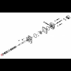 """Arruela de Borracha 5/8"""" - Motor Hidráulico - Hypro (1410-0056) - Canal Agrícola"""
