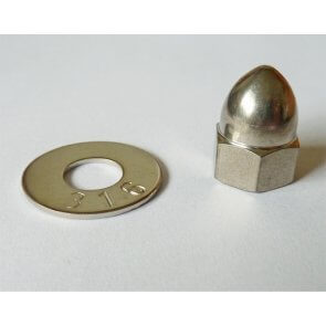 Porca do Eixo Rotor em Aço Inox para Bomba Centrífuga - Hypro (3430-0825) - Canal Agrícola