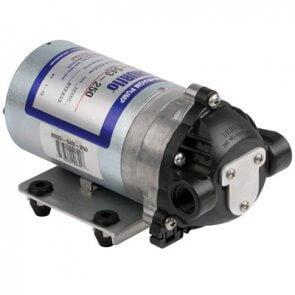 Bomba Hidráulica com Válvula de Retenção Interna (Bypass) e Diafragma, 12V, 0,7 a 4,9 L/m, SHURFLO (8000-543-250)