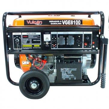 Gerador Gasolina Monofásico VGE 8100 - 127/220V 8,1KVA Vulcan (56532) - Canal Agrícola