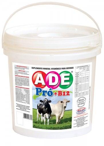 ADE Pró + Vitamina B12 Alivet para Bovinos (Crescimento, Engorda e Reprodução) Balde 4 Kg - Canal Agrícola