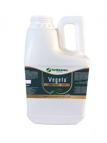 Fertilizante Foliar Organomineral Vegeta 5 Litros Fertiquímica - Canal Agrícola