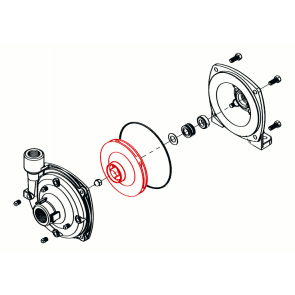 Rotor em Nylon (branco) para Bomba Hypro 9303 (0401-9100P)