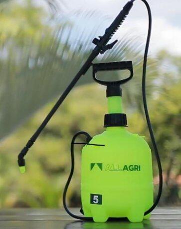Pulverizador de Compressão Prévia com Alça Lateral All Agri 5 Litros - Canal Agrícola