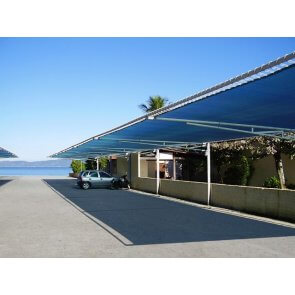 Tela para Sombreamento Ecosombra Azul/Preto para Garagens e Jardins - Rolo de 4,0 x 50m (30201002)