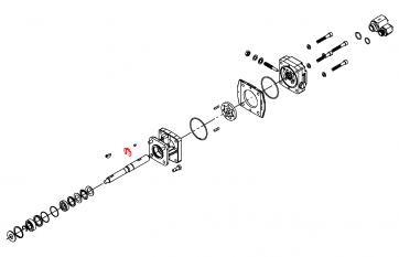 Anel de Retenção (Eixo) do Motor Hidráulico - Hypro (1810-0026) - Canal Agrícola