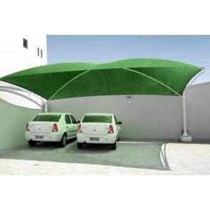 Tela para Sombreamento Ecosombra Verde para Garagens e Jardins - Rolo de 4,0 x 50m (30201003) - Canal Agrícola