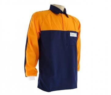 Camisa Florestal Azul e Laranja Tecmater - Canal Agrícola