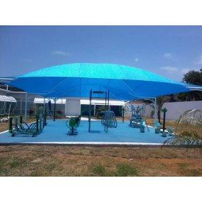 Tela para Sombreamento Ecosombra Azul para Garagens e Jardins - Rolo de 4,2 x 50m (30201001) - Canal Agrícola