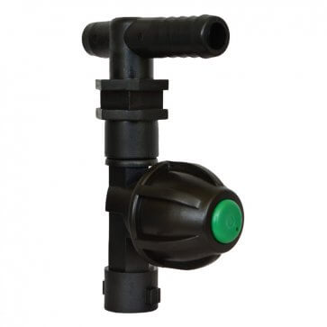 """Porta bico barra seca com válvula anti-gotejo com engate rápido universal e terminal """"L"""" para mangueira 1/2""""pol. Magnojet - Canal Agrícola"""