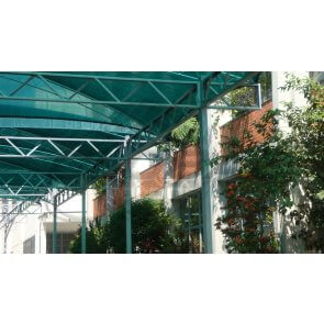Tela para Sombreamento Ecosombra Verde e Preto para Garagens e Jardins - Rolo de 4,0 x 50m (30201004) - Canal Agrícola