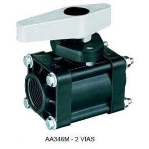 Válvula de Esfera Manual de 2 ou 3 Vias com Retorno TeeJet (AA346M) - Canal Agrícola