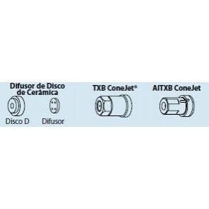 Capa Quick TeeJet com anel de vedação para engate rápido para bicos da séries Disco D / Difusor / TXB / AITXB (26278-1-NYR)