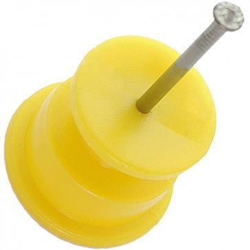Isolador Roldana 36mm x 36mm Amarelo para Cerca Elétrica CNI - Canal Agrícola