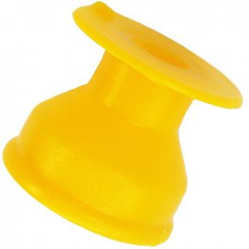 Isolador Roldana sem Prego 48mm x 48mm Amarelo para Cerca Elétrica CNI - Canal Agrícola