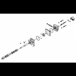 Anel de Retenção para Bomba Centrifuga(Kit com 10 undades) - Motor Hidráulico - Hypro (1810-0014)